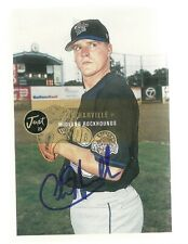 2000 Midland Rockhounds CHAD HARVILLE Signed Card AUTOGRAPH A'S ATHLETICS