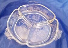Heisey Orchid 3 Part Round Candy Mint Dish Excellent Condition