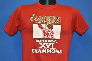 vintage 80s SAN FRANCISCO 49ERS SUPER BOWL XVI CHAMPS 1982 t-shirt FOOTBALL S
