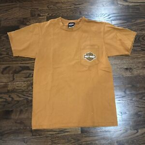 Harley-Davison Jamestown California T-Shirt Size Large Burnt Orange