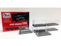 Auto World 6 Pack Display Cases for 1:64 Scale Model Cars CLEAR AWDC008