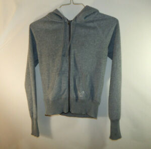 American Eagle Outfitters Gray Zip Up Hooded Sweater Size Juniors XS Extra Small