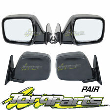 MIRRORS PAIR ELECTRIC BLACK SUIT 80 SERIES LANDCRUISER TOYOTA DOOR SIDE REAR
