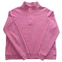Izod Golf Pink 1/4 Zip Sweatshirt Jumper in - Size XL Women's