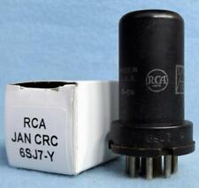 1-RCA JAN CRC 6SJ7-Y Vacuum Tube Amplitrex Tested 3.1mA 1953 Meatball