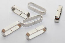 Gürtel-schlaufe / Lazo de Latón para 25mm Cinturón / Correas, Color: Plata