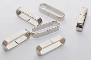 Gürtel-schlaufe / Loop Made of Brass For 25 MM Belt/Strap, Color:Silver
