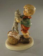 "Original Vintage Hummel Kitty Kisses Figurine 4 1/2"" Tall No Cracks Or Chips"