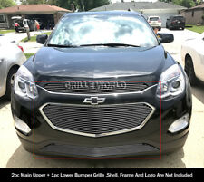 For 2016-2017 Chevy Equinox Upper and Lower Billet Grille Combo