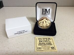 The Highland Mint Green Bay Packers Super Bowl XXXI Collectible Gold Medallion!