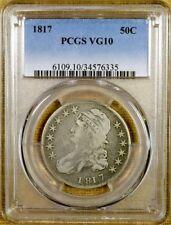 1817 O-106A Single Leaf PCGS VG10 Bust Half Dollar
