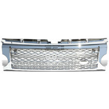 Fit 05-09 Land Rover Lr3 Chrome Diamond Mesh Front Bumper Abs Upper Grille Guard
