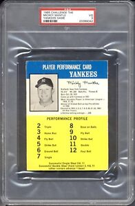 1965 Challenge the Yankees Game  Mickey Mantle  PSA 3