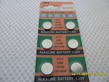 6 X AG10 LR1130 1.55V STOP BARK ALKALINE BATTERY BATTERIES TOYS  WATCH 12/2023 C