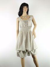 Kleid Silber grau Vintage Lagenlook Gr. 34 - 44 one size Raffungen Blumen NEU