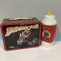 Vintage 1984 Indiana Jones and the Temple of Doom Metal Lunchbox with Thermos