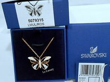 Swarovski Butterfly Pendant Rose Gold-Plated Chain Crystal Authentic MIB 5079315