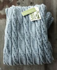 Aran Woollen Mills 100% Merino Wool Throw – Light Blue – New