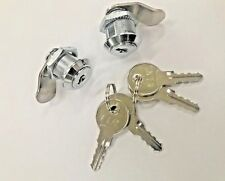 2 x 16mm Chrome Camlock - great for cabinets/lockers, KEYED ALIKE cam lock