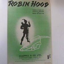 Foglio CANZONE Robin Hood, Bob miketta, LOUIS PRIMA 1944