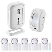 Welcome Chime Wireless Infrared PIR Motion Sensor Door bell Entry &  Door Alarm