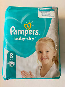 Pampers Baby Dry Size 8 Pack of 25 Diapers All New Pampers 8 New Germany Edition