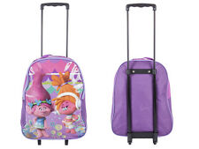 Disney Kids Boys Girls Cabin Trolley Case Wheeled Bag Suitcase Hand Luggage Trolls