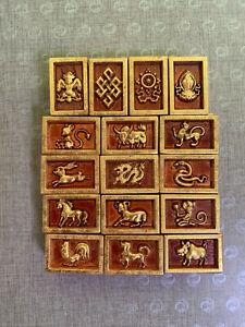 "Mongolian Domino Game ""Khorol"" Traditional Mongolian Domino game Hand made"
