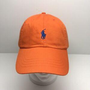 AUTHENTIC Classic Men's POLO RALPH LAUREN Baseball Style Hat/Cap Orange NWT
