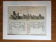 Plan of Country House Estate, 1893, R H Robertson, Hand Colored Original