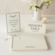 A4 Luxury Memoria Libro & segni 2 Set-per la memoria Funerale TAVOLA, libro di condoglianze