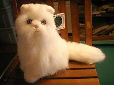playful crisha plush kitty cat limited 1988 11in white boys&girls Box# 68 toy 3+