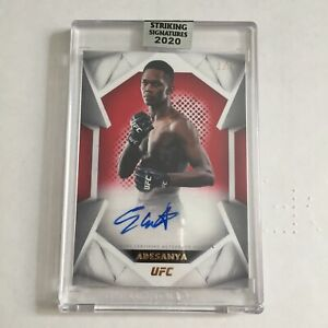2020 Topps UFC Striking Signatures ISRAEL ADESANYA Ruby Red Parallel Auto /8