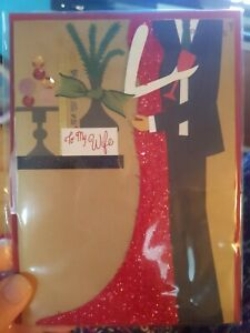 """Papyrus Holiday Greeting Card for Wife - Fancy Couple - 5"""" x 7"""""""