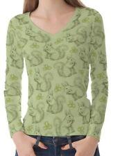 Eichhörnchen Damen V-Ausschnitt Langen T-Stück T-Shirt b23 b03323