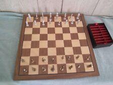 Vintage Allan Troy Chess Set-PERUVIAN METAL SET-Unique Set!