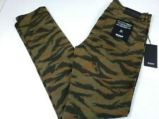 Hudson Men Axl Camo Reverse Twill Pant Skinny Fit Stretch Green New NWT $205