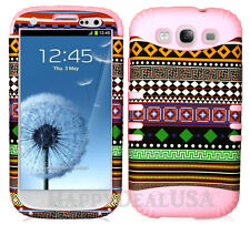 KoolKase Hybrid Silicone Cover Case for Samsung Galaxy S3 - Tribal Pattern 03