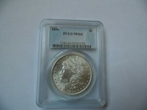 1896  Morgan Silver Dollar  PCGS ms64