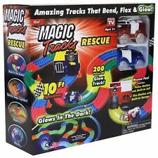 Magic Tracks Glow In The Dark Rescue Set   Ultimate Way to Race   MAGTRA-RES NEW
