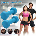 Pair x 4KG Dumbbells Neoprene Cast Iron Weights Ladies Gym Workout Training UK