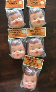 VINTAGE Wang's International Doll Accessories Lot of 5 Boy Face And Hands