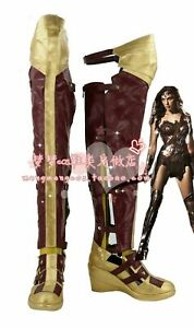 Wonder Woman Superman: Dawn of Justice League Shoes Cosplay Boots Hot