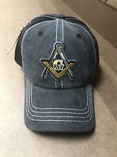 Mason, Freemason, Masonic Cap Black And Black Mesh