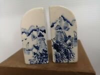 salt and pepper VINTAGE Blue and white hand painted Japan