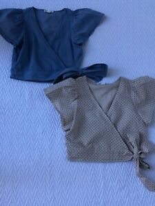 exc cond RRP$110 gorgeous 2PK COUNTRY ROAD  teen girls size 10 WRAP TOPS