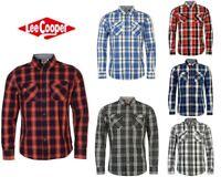 Mens Lee Cooper Cotton Long Sleeve Check Shirt Top