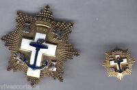 España Medalla Merito Naval orden Cruz naval distintivo blanco con pin en oro