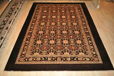Brown Rug Top Quality 9x11 oriental hand-knotted PEACH, GOLD, GRAY SAGE GREEN