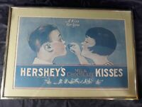 """Hershey's Kiss Framed A Kiss For You Print Ad Art 20"""" by 14-3/8"""""""